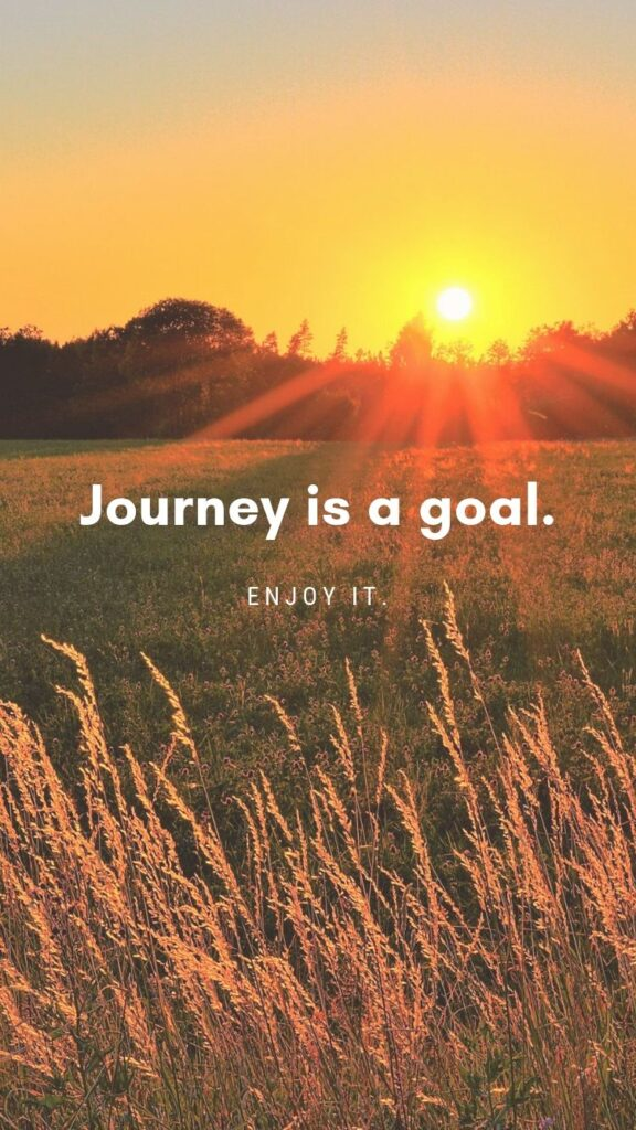 Journey is a goal iPhone free wallpaper
