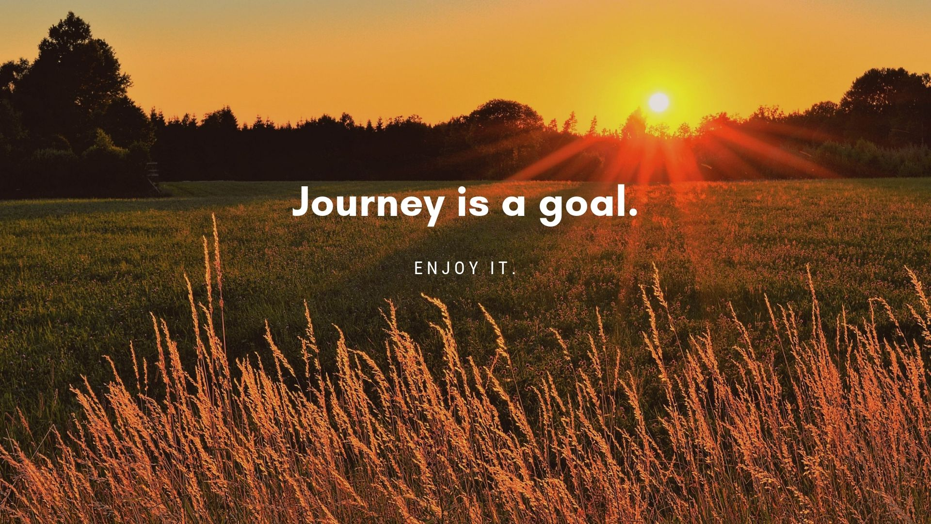 Journey is a goal free wallpaper