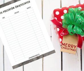 Pobierz darmowy pdf lista prezentów świątecznych