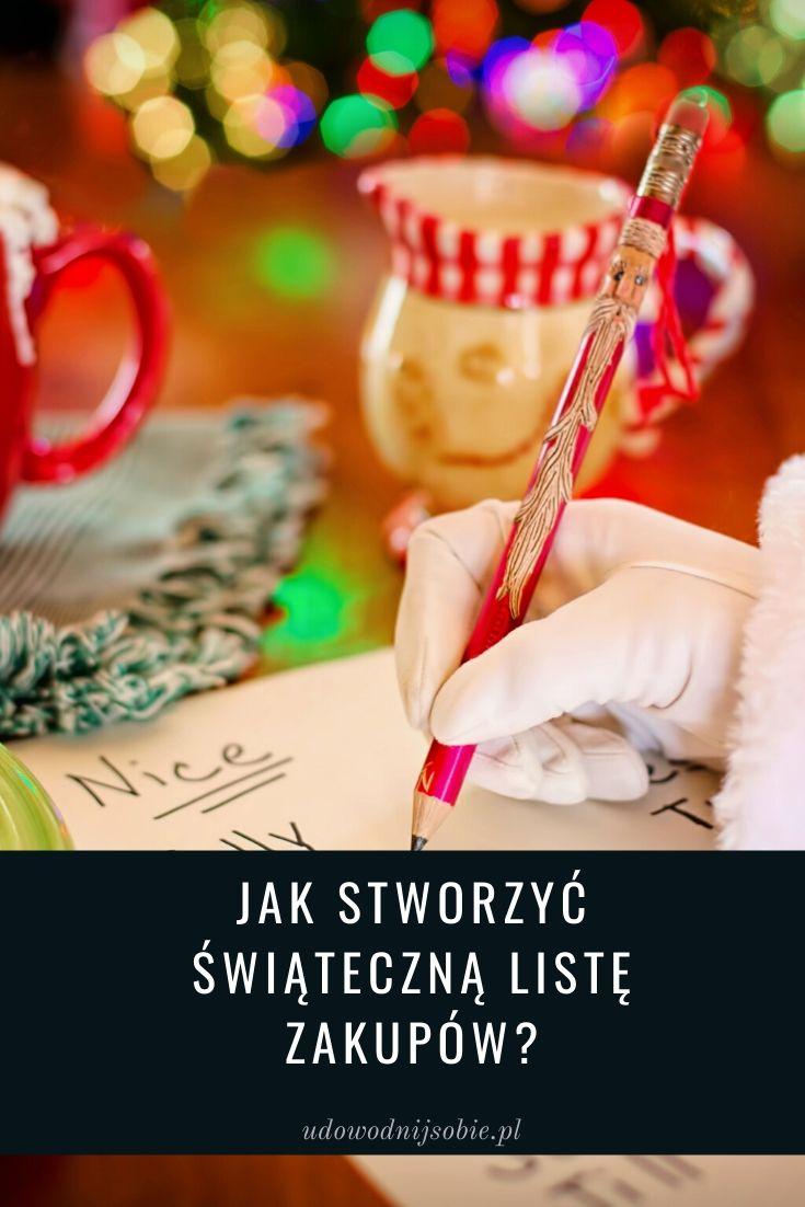 Jak stworzyć świąteczną listę zakupów