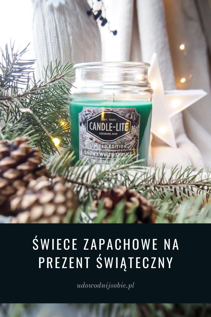 Pomysł na prezent świąteczny świece zapachowe