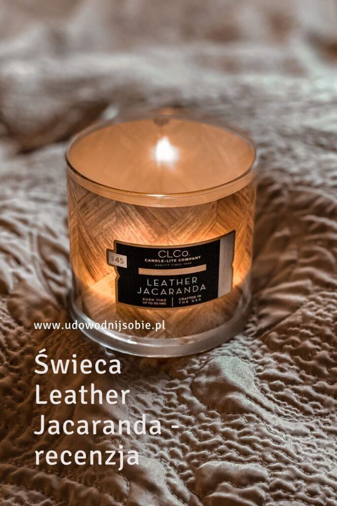 Świeca Leather Jacaranda Candle-lite recenzja